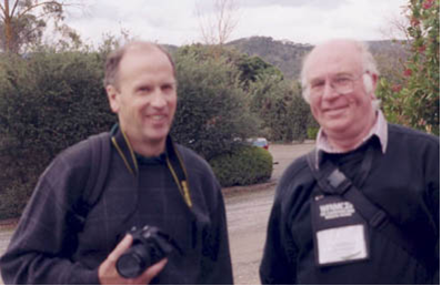 Howard Groves (Wales) with Bill Richardson (Scotland).