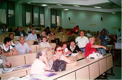 A scene at the WFNMC meeting in Seville, Spain, in July 1996.