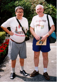 Andy Liu (Canada) with Peter Taylor (Australia), China, 1998.