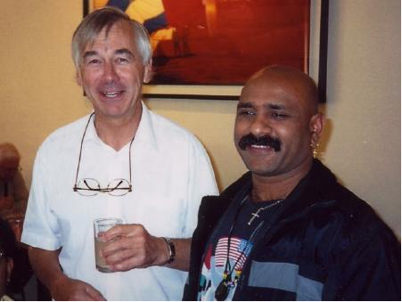 Tony Gardiner (England) with Alan Nambiar (South Africa). Melbourne Conference, 2002.